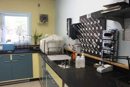 lab at the district office
